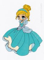 Cinderella Chibi Colored by Maiko-Girl