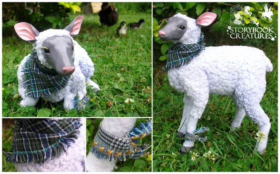Lavendar Sheep by StorybookCreatures