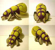 Baneling plushie (crochet) by bulaw