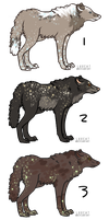 Wolf adoptable set 1 [OPEN] by Luxcat
