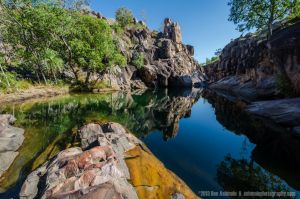 Natures Infinity Pool, Gunlom Falls, Kakadu Na by Ashmolephotography