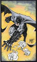 Batman Sketch Card 1 by KenHunt