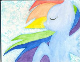 Rainbow Dash - Painting by LylisArt