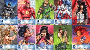 DC New 52 Sketch Cards: 1-10 by skardash