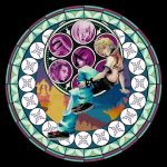 Roxas's stained glass by misosoupaddict