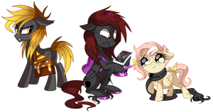 Zanon, Amber and Dream puff - Pony OC'S by pepooni