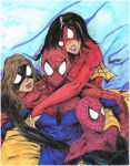 spidey and the girls (colored) by KILLCubstead