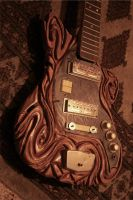 carved guitar by iberiko