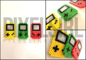 Miniature Gameboy Perler Bead Art by pixelsirl