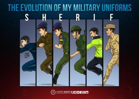 The evolution of my military uniforms by SherifNagy