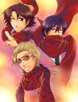 RED SCARFS WILL RULE THE WORLD by Zue