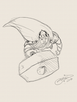 15 Minute Thor Sketch by BouncieD