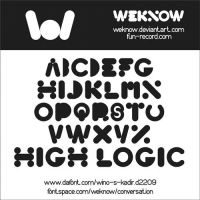 high logic font by weknow by weknow