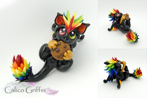 Arco the rainbow cookie griffin by CalicoGriffin
