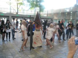 Pyramid Head and Undead Nurses by AngstyGuy