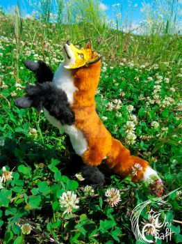 Fox OOAK poseable art doll by OkamiKiba13