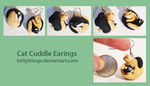 Cat Cuddle Earings - Commission by Bittythings
