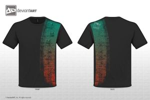 T-shirt Design - OrangeAndTeal by Fiiress