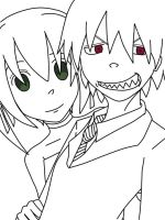 Soul and Maka by LilithShiro