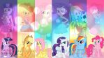 Mane six Equestria Girls wallpaper by IIThunderboltII