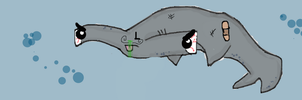 Ugly Shark by piefairy