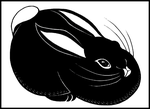 Big Black Bunny by Leonca