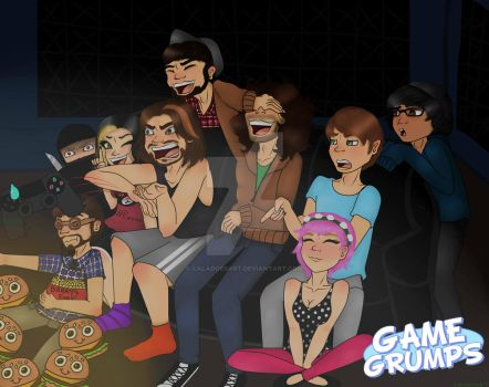 Grumping Around (Feat JonTron and Commander Holly) by LalaDoesArt