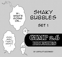 shaky bubbles GIMP brushes by asifalittlezonked