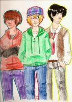 The Three Stooges by Thystle