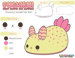 Plush Design Sheet - Fuwakui Strawberry Lemonade by MoogleGurl