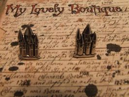 Castles Studs by TheLovelyBoutique