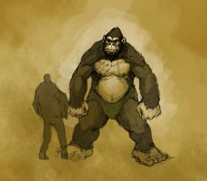 gorilla warrior by MichoBD