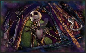 Cosmic Jack Skellington by JulianneBlack