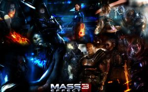 Mass Effect 3 Wallpaper by TrollDrill