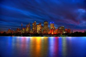 Sydney city lights and colours by Kounelli1