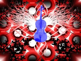 Trippy Violin Wallpaper by kkplum