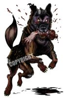 Dakotic Dog Zombie by Schoonz