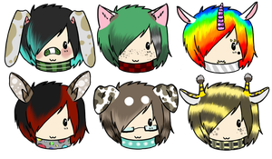 : Animal-Human Adoptables 10 points CLOSED by StripedSock-Adopts
