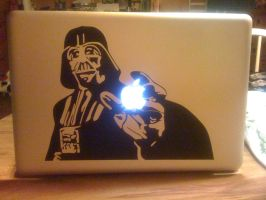 Darth Vader decal Sticker on HD Macbook Pro by Black-Lotus-Designs