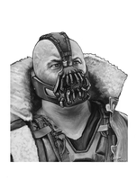 Photorealistic digital drawing of Bane by GTzArt