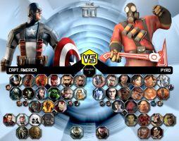 Marvel vs. Valve All-Stars by sprite-genius