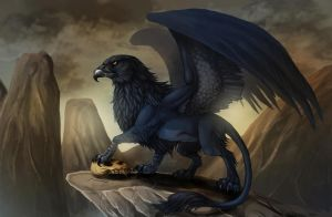 Blue Gryphon by fiszike
