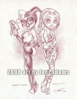 Lil Harley Quinn n Poison Ivy by lilzart