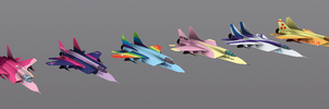 My Little Pony Fighter Jets by anarchemitis