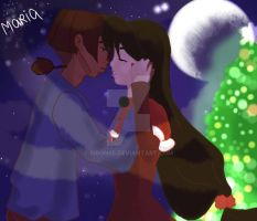 Christmas kiss by Ribon95