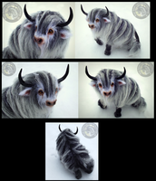Hand Made Poseable Fantasy Baby Yak! by Wood-Splitter-Lee