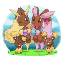 Easter Bunnies by Kikulina