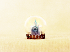 Elsa's ice castle snowglobe by wibblequibble