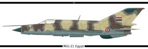 MiG-21 Egypt by PsykoHilly