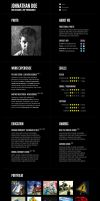 Typographic CV template by denoizzed